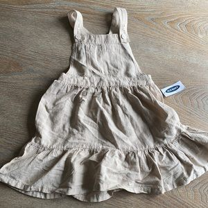 New with tags old navy 3t pinafore dress beige